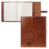 Fabrizio Brown Portfolio w/Loop Closure-WCU w/Head Engraved, Personalized