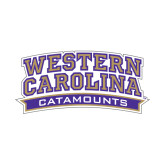 Small Decal-Western Carolina Catamounts, 6 in Wide