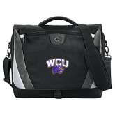 Slope Black/Grey Compu Messenger Bag-WCU w/Head