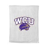 White Rally Towel-WCU w/Head