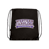 Nylon Black Drawstring Backpack-Western Carolina Catamounts