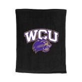 Black Rally Towel-WCU w/Head