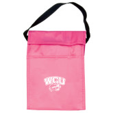 Koozie Pink Lunch Sack-WCU w/Head