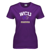 Ladies Purple T Shirt-Grandma