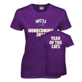 Ladies Purple T Shirt-WCU Homecoming 2014
