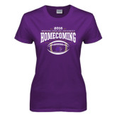 Ladies Purple T Shirt-Homecoming 2016