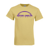 Champion Vegas Gold T Shirt-Arched Football Design