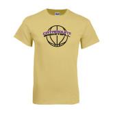 Champion Vegas Gold T Shirt-Basketball Ball Design