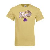 Champion Vegas Gold T Shirt-Basketball Stacked Design