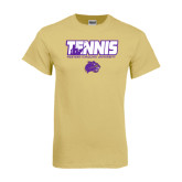 Champion Vegas Gold T Shirt-Tennis Player Design