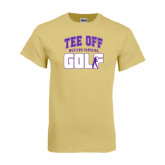 Champion Vegas Gold T Shirt-Tee Off Golf Design