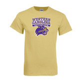 Champion Vegas Gold T Shirt-Western Carolina Catamounts Stacked