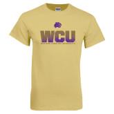 Champion Vegas Gold T Shirt-WCU Splatter