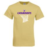 Champion Vegas Gold T Shirt-Basketball Net Design