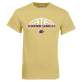 Champion Vegas Gold T Shirt-Basketball Half Ball