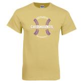 Champion Vegas Gold T Shirt-Baseball Seams Design