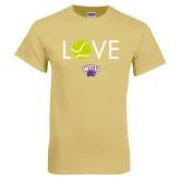 Champion Vegas Gold T Shirt-Love Tennis