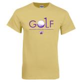 Champion Vegas Gold T Shirt-Golf Flag Design