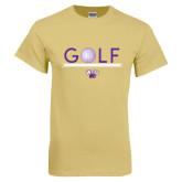 Champion Vegas Gold T Shirt-Golf Lines Design