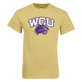 Champion Vegas Gold T Shirt-WCU w/Head