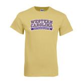 Champion Vegas Gold T Shirt-Western Carolina Catamounts