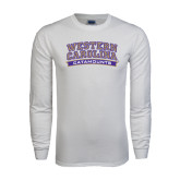 White Long Sleeve T Shirt-Western Carolina Catamounts