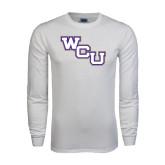 White Long Sleeve T Shirt-WCU