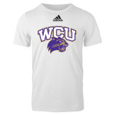 Adidas White Logo T Shirt-WCU w/Head