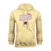 Champion Vegas Gold Fleece Hood-Basketball Stacked Design