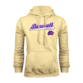 Champion Vegas Gold Fleece Hood-Baseball Script w/ Bat Design