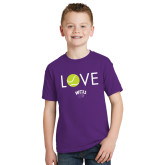 Youth Purple T Shirt-Love Tennis