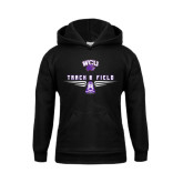 Youth Black Fleece Hoodie-Track and Field Shoe Design