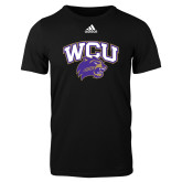 Adidas Black Logo T Shirt-WCU w/Head