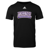 Adidas Black Logo T Shirt-Western Carolina Catamounts