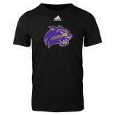 Adidas Black Logo T Shirt-Catamount Head
