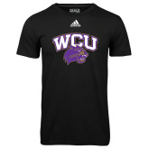 Adidas Climalite Black Ultimate Performance Tee-WCU w/Head