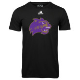 Adidas Climalite Black Ultimate Performance Tee-Catamount Head