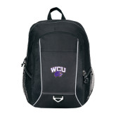 Atlas Black Computer Backpack-WCU w/Head