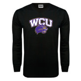 Black Long Sleeve TShirt-WCU w/Head
