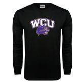 Black Long Sleeve TShirt-WCU w/Head