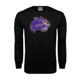 Black Long Sleeve TShirt-Catamount Head