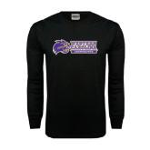 Black Long Sleeve TShirt-Western Carolina Catamounts Side Logo