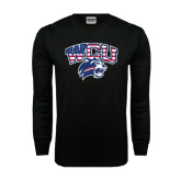 Black Long Sleeve TShirt-Stars and Stripes
