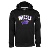 Under Armour Black Performance Sweats Team Hoodie-WCU w/Head