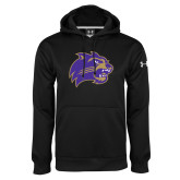 Under Armour Black Performance Sweats Team Hoodie-Catamount Head