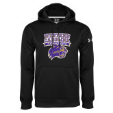 Under Armour Black Performance Sweats Team Hoodie-Western Carolina Catamounts Stacked