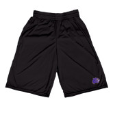 Midcourt Performance Black 9 Inch Game Short-Catamount Head