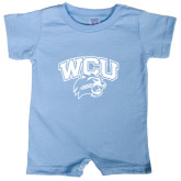 Light Blue Infant Romper-WCU w/Head