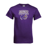 Purple T Shirt-Western Carolina Catamounts Stacked