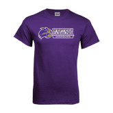 Purple T Shirt-Western Carolina Catamounts Side Logo